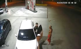 drunk police at the service station give him a blowjob in the car