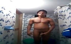Caught Horny guy Cumming