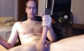 Huge white nerd cock
