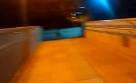 Jack off on the catwalk
