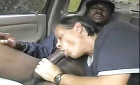 Str8 Homeless get his dick sucked by a old white guy, he cum twice in his car