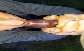 Mature white guy takes a black cock
