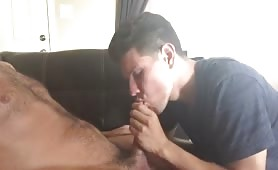 Sucking straight dad for some cash