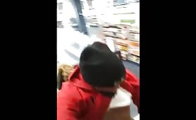 Black dude fucking a whore in the Store