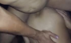 Married daddy with fat cock cums in his ass.