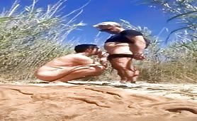 Cruising in the dunes and cum in his mouth