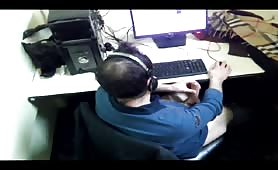 Caught cruising in a cyber cafe spy cam