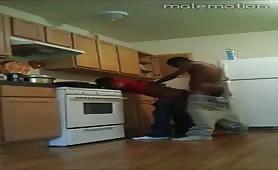 Str8 homie ducking me in the kitchen..