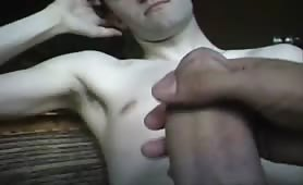 Twink receiving a sweet handjob