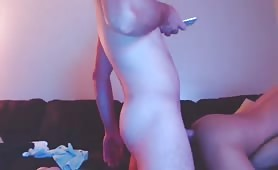 Fucking my hot ass roommate while watching porn