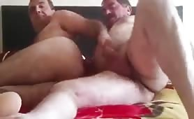Iranian big ass daddy fucking his str8 best friend part II