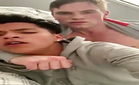 Latin twink is verbally abused while getting railed hard by hot jock