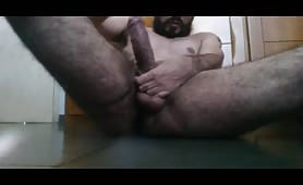 Bearded dude with huge cock