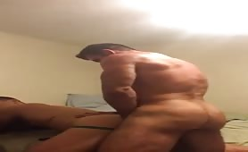 Muscular beefy guy fucking a tight ass