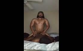 Jamaican cock fucking a African American ass