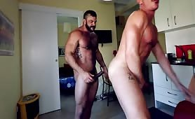 Beautiful muscle stud fucking each other hard
