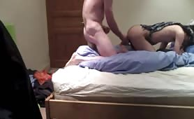 Strange boy in a hurry to fuck my ass