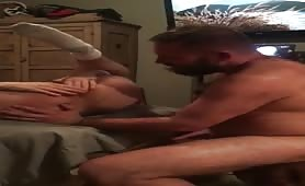 Hairy daddy and a dirty verbal pup