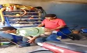 str8 mexican fucking a mature drunk mechanic guy