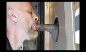 Sucking a str8 Dominican in a glory hole