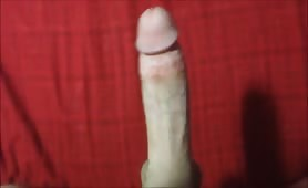Wanking my massive cock to have a relax fun day