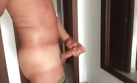 Caught jerking off by straight friend