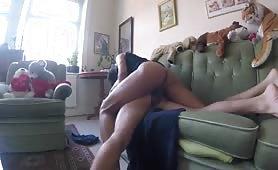 Banging this hot slut on the floor
