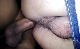 Fucking my horny neighbor who has a hairy ass