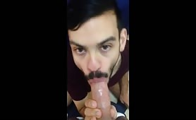 Sucking cock and swallowing cum