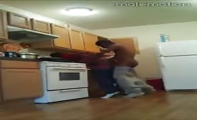 My str8 homie is knocking my ass down in the kitchen