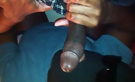 Sucking my DL homeboy.