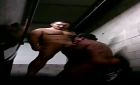fucking naked in a public park garage