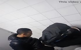 2 latinos caught jerking off together in the public Restroom