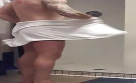 Locker room showers Sneaky Tug