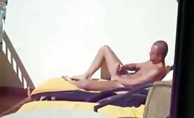 Caught Wanking On Balcony In Sun