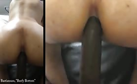 a real black ass drilling beefy bottom