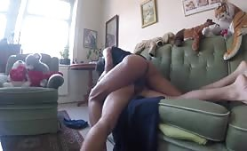 my cousin gets all my huge cock in his ass on grandma's couch