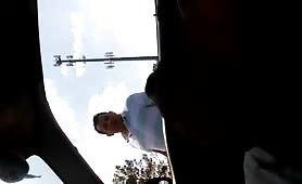 Random guy watching me jerks off in my car