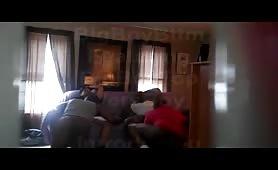Black homemade bareback Party caught on hidden cam