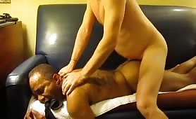 Hairy GBM takes raw daddy dick.
