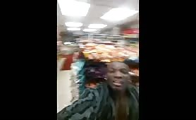 Nigga fucking slut in the back of grocery store