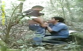 Caught Latinos fucking in the forest spy cam