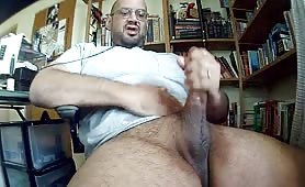 giant cock daddy shoots a giant load while chatting