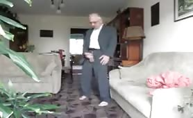 Big Cock Grandpa in Suit cums for us