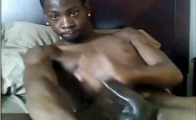 huge Black Cock cam show