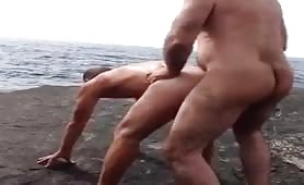 Fucking Czech Daddy Tourist at Nude Beach..