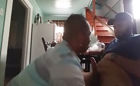 Latino sucks married friend on cam