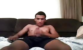 Hot Moroccan twink cums on cam