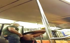fucking my friend from the gym in the subway