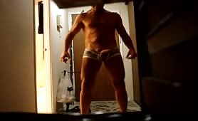 Another Delivery in Grey Tight Boxers..